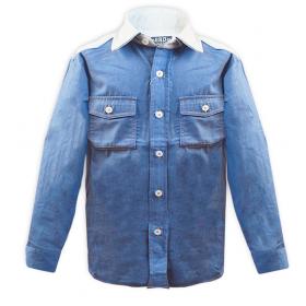 Детская джинсовая  рубашка  GIRANDOLA для мальчика