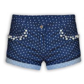 Детские нарядные джинсовые шорты  Mone  для девочки